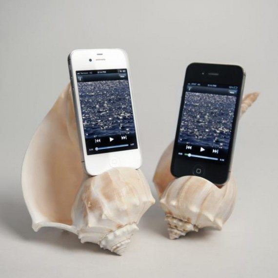 Enceinte pour iphone coquillage