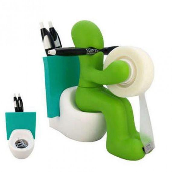 station accessoires de bureau bonhomme toilette gadget. Black Bedroom Furniture Sets. Home Design Ideas
