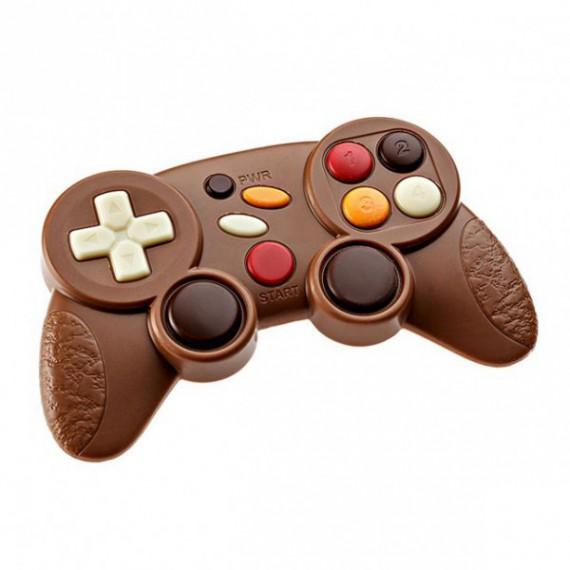 La manette de jeux vidéos en chocolat