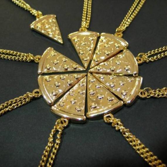 Collier tranche de pizza