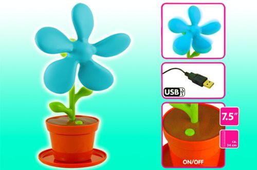 gadget ventilateur fleur usb