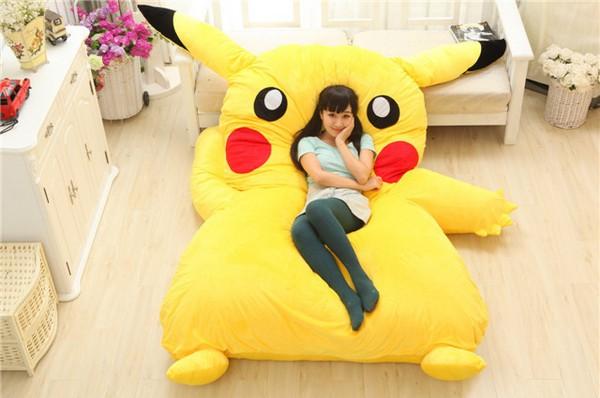 Lit pikachu g ant for Cama kawaii