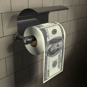 Papier Toilettes 100 US Dollars