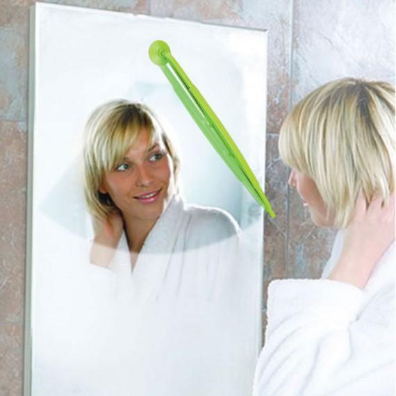 Miroir avec essuie-glace anti-buée