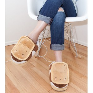 Chaussons Chauffants USB Guimauve