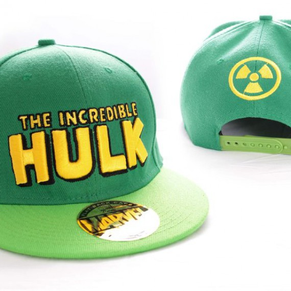 Casquette Hulk Verte titre comics et symbole radioactive