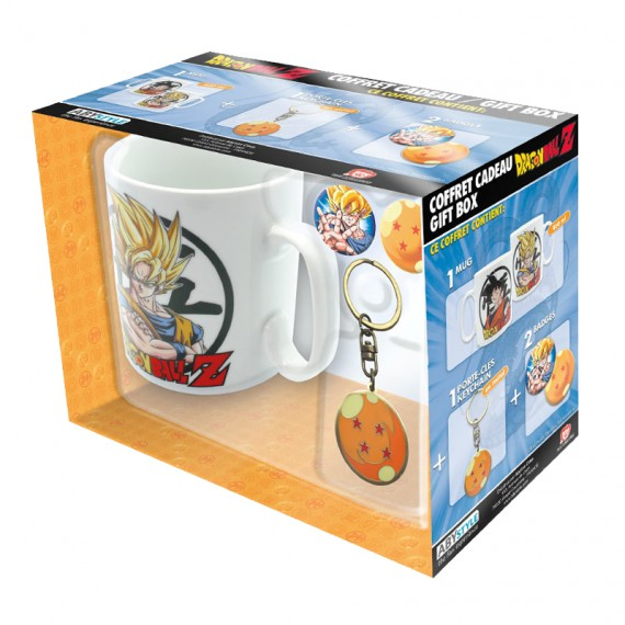 Coffret Dragon Ball Z - Porte-clés + Badges + Mug