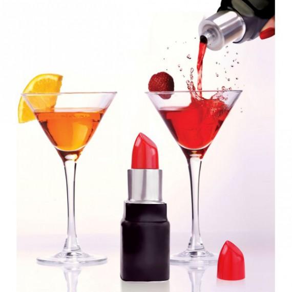Flasque rouge à lèvre