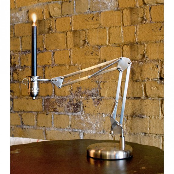 "Bougeoir lampe design ""Candlepoise"""