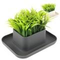 La station de rangement pelouse herbe