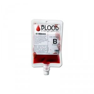 Boisson énergisante poche de sang