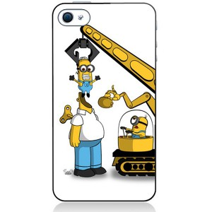 Coque Mobile Minion The Simpsons