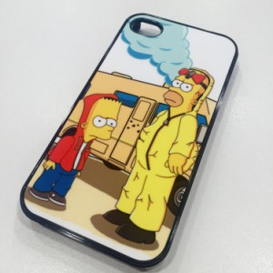 Coque Mobile Les Simpson se la jouent Breaking Bad