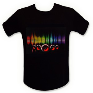 Tee shirt LED égaliseur