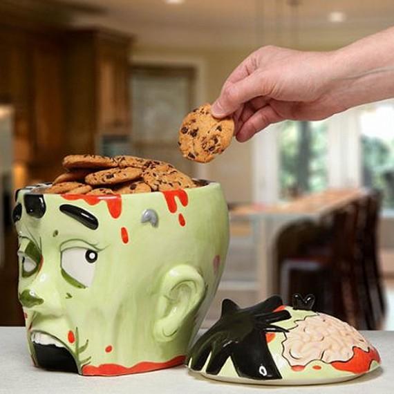 Tête de zombie boîte à biscuits