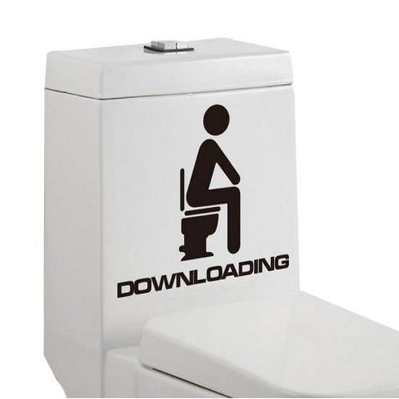 Sticker toilettes Downloading