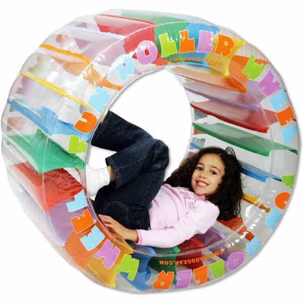 Roue de hamster gonflable pour piscine for Piscine a boule bebe