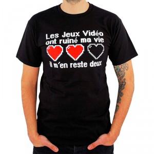 T-shirt Geek Les jeux vidéo ont ruiné ma vie