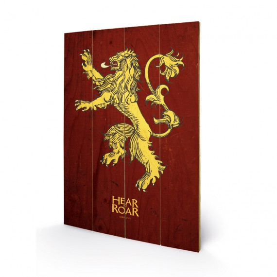Panneau en bois Lannister Game of Thrones