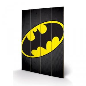 Panneau en Bois Logo de Batman DC Comics