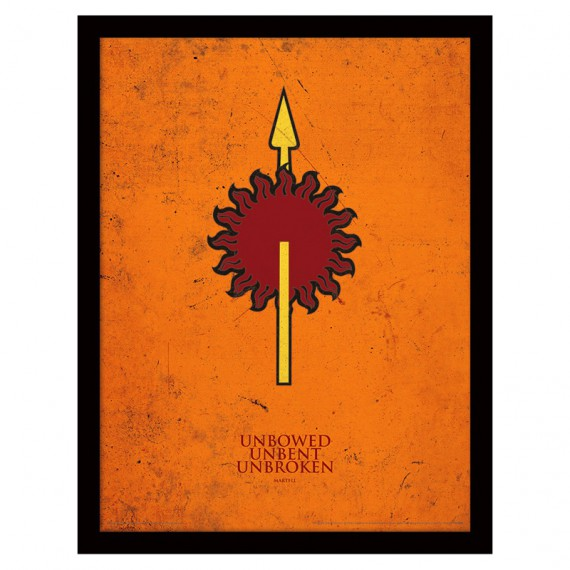Cadre famille Martell Game of Thrones