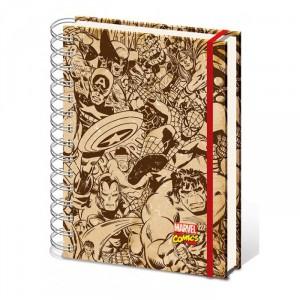 Cahier à spirale A5 Marvel Comics Retro
