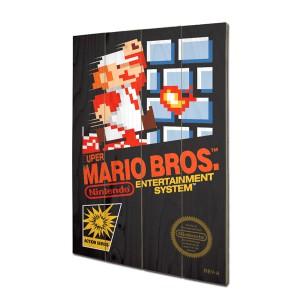 Panneau en bois Mario Bros Nintendo