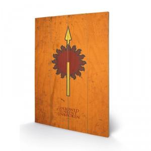 Panneau en bois famille Martell Game of Thrones