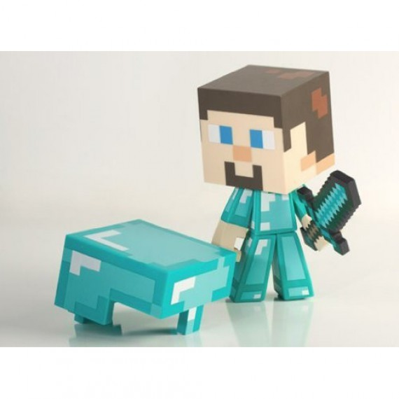 Figurine Minecraft Diamond Steve