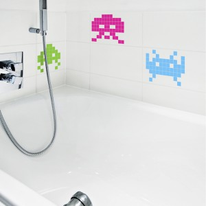Stickers Mini Space Invaders en couleur