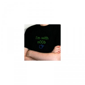 T-Shirt I'm with n00b