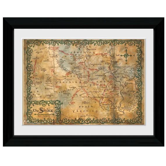 Cadre Le Hobbit Carte La Comté