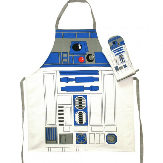 Set tablier et gant de cuisine star wars r2 d2 for Tablier de cuisine star wars