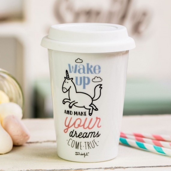 Mug take away - Wake up and make your dreams come true
