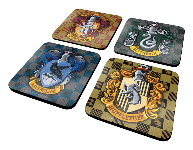 pack de 4 dessous de verre harry potter commentseruiner. Black Bedroom Furniture Sets. Home Design Ideas