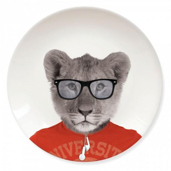 Petite Assiette Wild Dining Bébé Lion