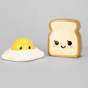Salière et poivrière Toast & Egg