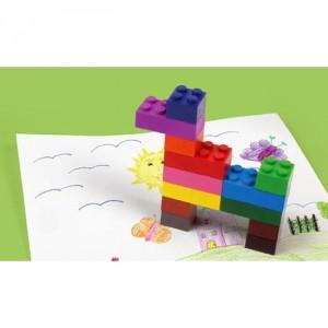 Crayons de couleur brique de construction