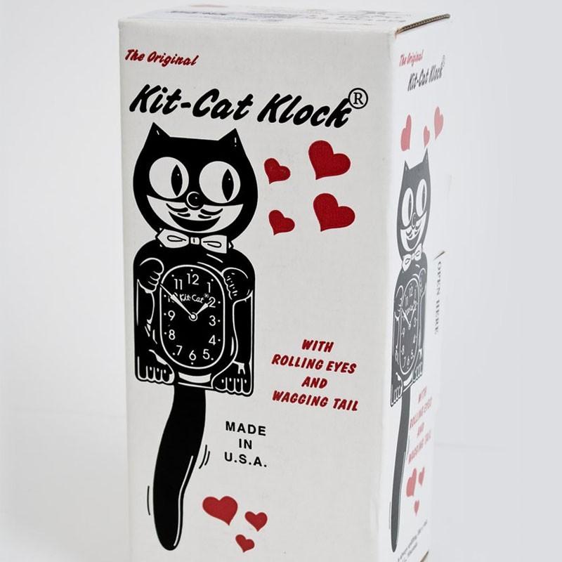 horloge kit cat noir. Black Bedroom Furniture Sets. Home Design Ideas