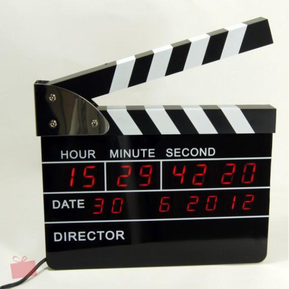 Horloge clap directeur de production cinema