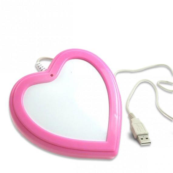 Chauffe-tasse coeur USB