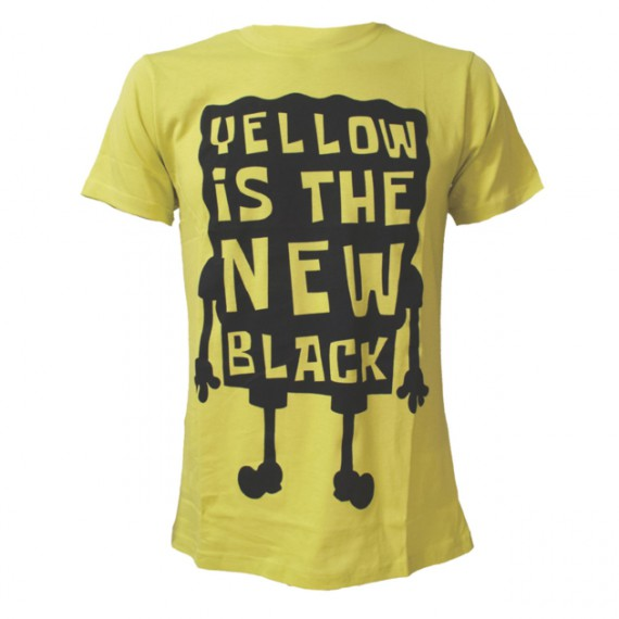 T-shirt Bob L'Eponge Yellow Is The New Black