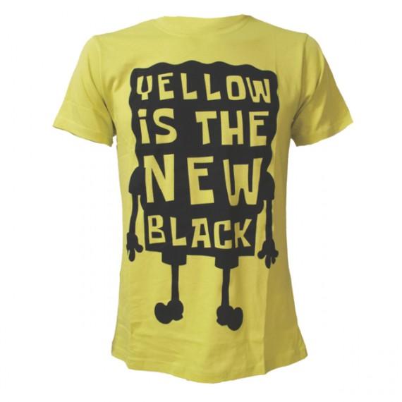 T-shirt Bob L'Eponge Yellow Is The New Black
