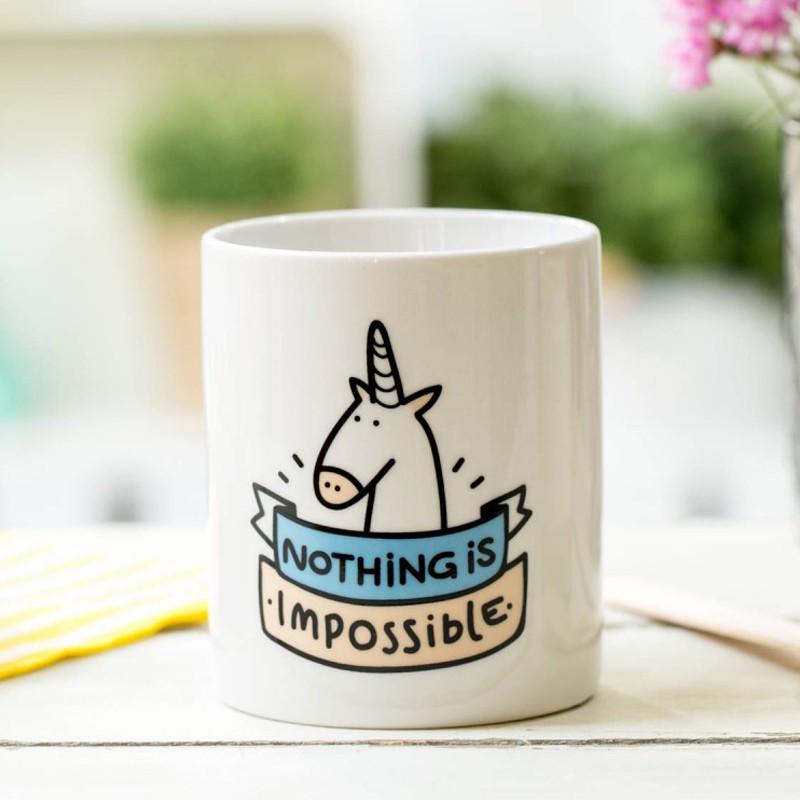 mug original licorne nothing is impossible commentseruiner. Black Bedroom Furniture Sets. Home Design Ideas