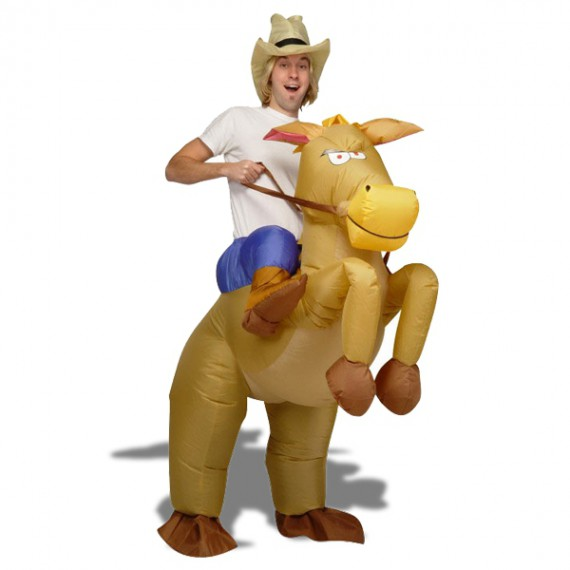 Déguisement de Cow Boy à cheval gonflable costume