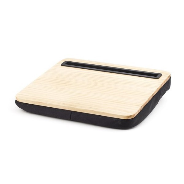 Plateau coussin en bois pour tablette for Conception cuisine pour tablette