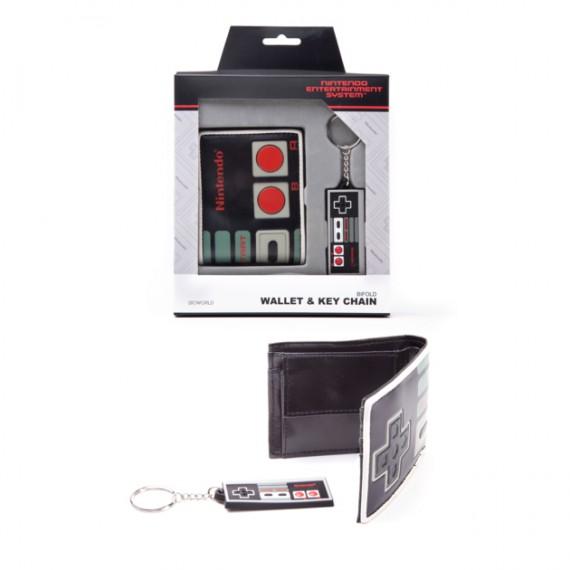 Coffret Nintendo Portefeuille et Porte-clés NES