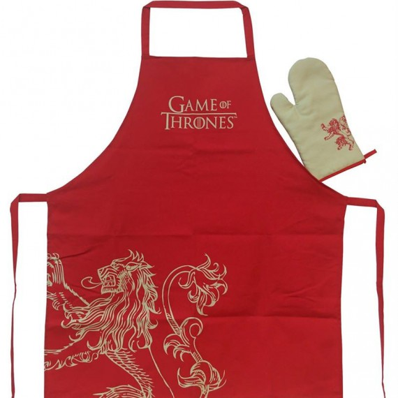Set tablier Gant de cuisine Game of Thrones Lannister