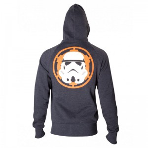 Sweat-Shirt Zippé Star Wars Stormtrooper Logo Empire