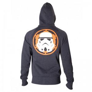 Sweat-Shirt Zippé Star Wars Stormtrooper Logo Empire
